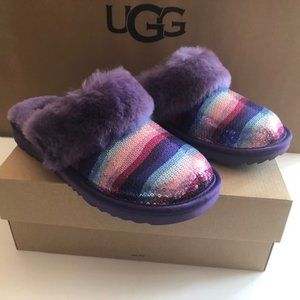 UGG Rainbow slipper. Shimmering. Shearling. Size 8